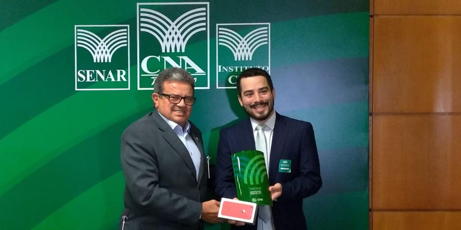 FAEAP recebe prêmio por campanha publicitária da Contribuição Sindical Rural 2018