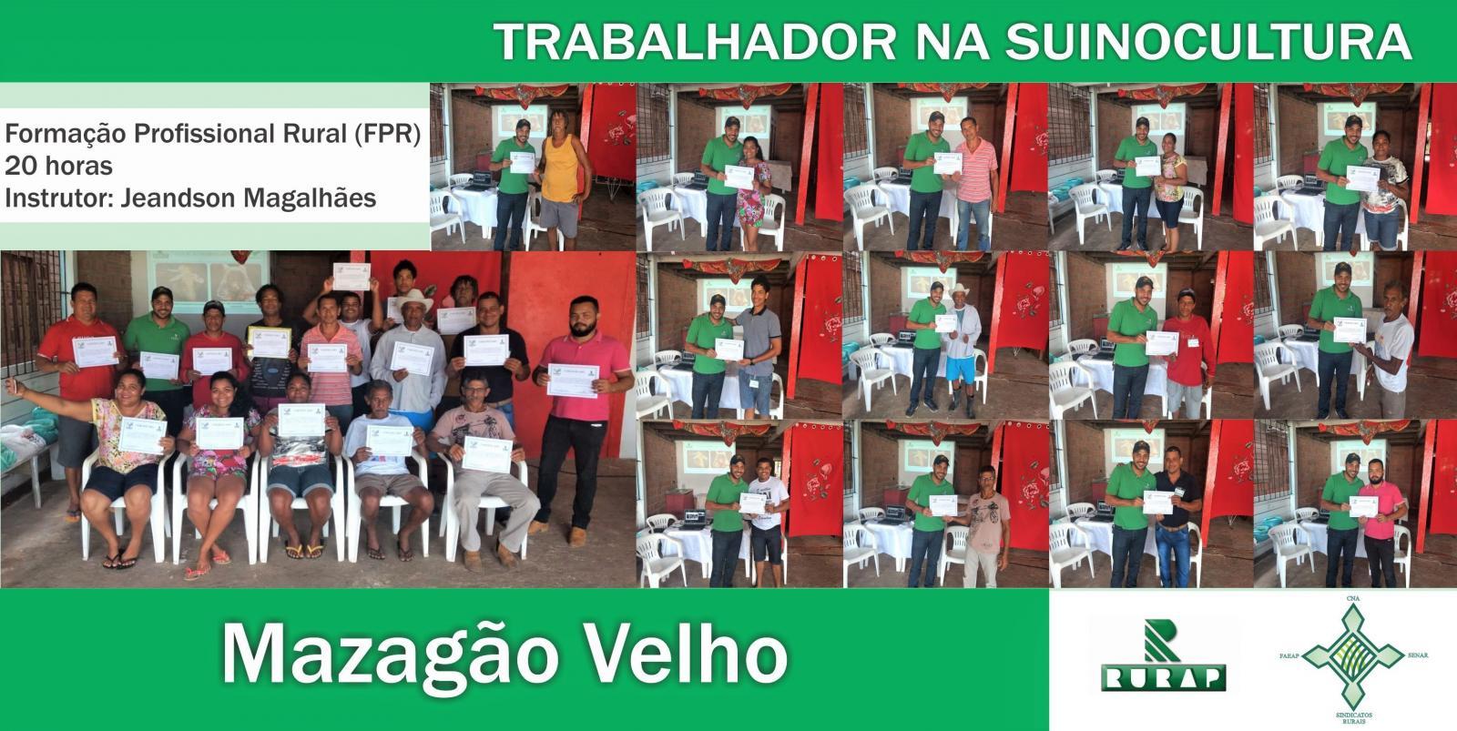 SENAR-AP certifica moradores de Mazagão Velho na área da suinocultura
