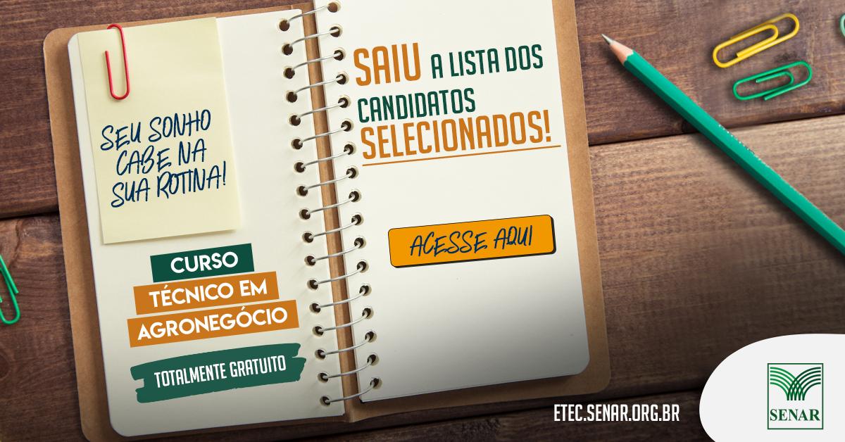 SENAR-AP divulga lista com 111 candidatos aptos para a próxima etapa classificatória do Curso Técnico em Agronegócio