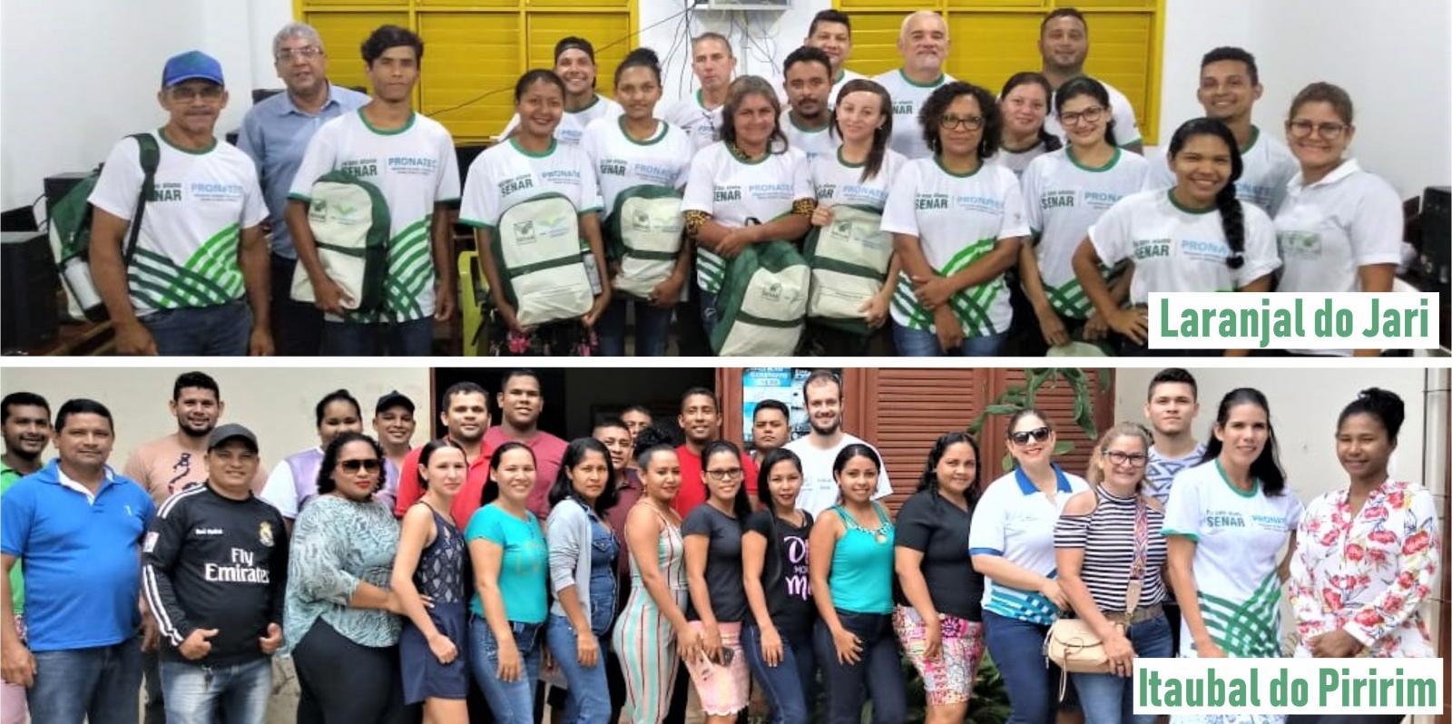Turmas do curso Técnico em Agronegócio iniciam aulas nos polos Laranjal do Jari e Itaubal do Piririm